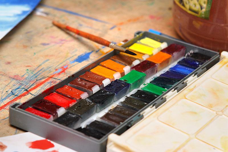 Как сделать из акварельных красок 558