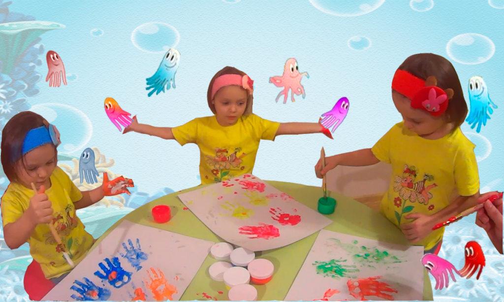 Рисуем красками с детьми