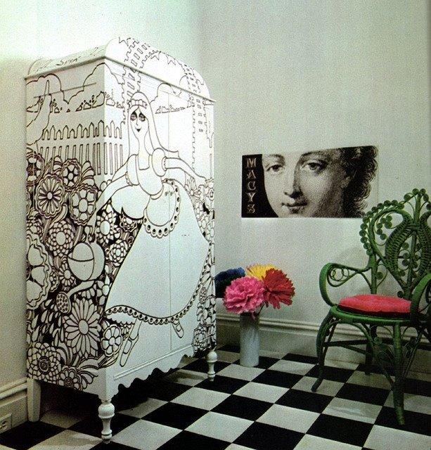оформление старой мебели