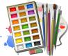 Акварельные краски и карандаши