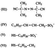 Структуры различных полимеризующихся ПАВ - 3